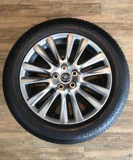 "Toyota Harrier 18"" Original Rims with Bridgestone Tyres"