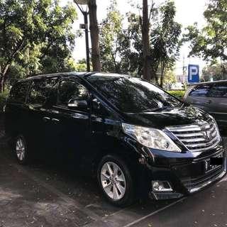Toyota Alphard G Juni 2014, Hitam