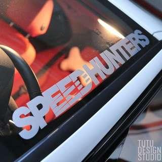 Speedhunters Car Vinyl Sticker Decal Sunshade