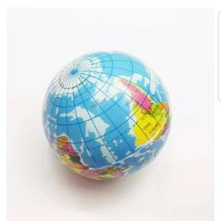 63mm Mini World Globe Teach Educational Toy Earth Geography Toy Map Stress Ball Model Vent Balls Toys for Children