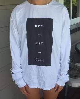 White RPM shirt