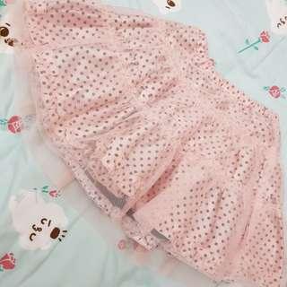 粉色黑點點澎裙