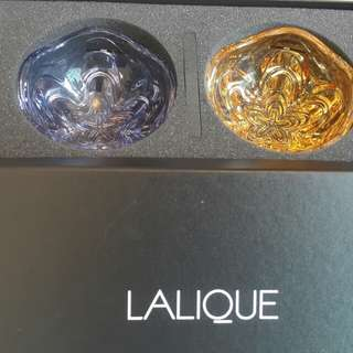 Lalique crystal bowl (blue and yellow)