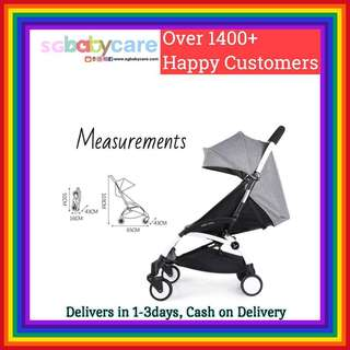 FREE DELIVERY Compact Travel Stroller - Grey