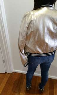 Zara gold bomer jacket