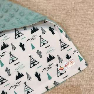 Tents and Cactus Minky Baby Blanket