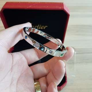 19cm rainbow diamond bangle