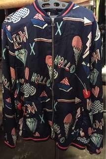 Silk jacket size m kondisi 90%