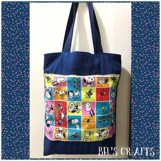 Snoopy denim tote bag