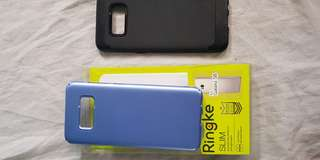 S8 cases ringke onyx and thin fit in coral blue.
