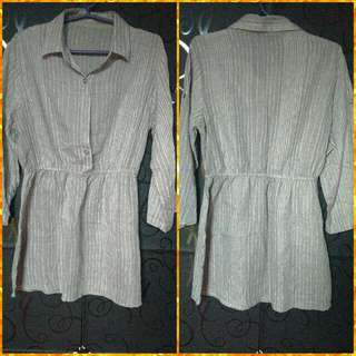 👚 Gray 3/4 Formal Blouse or Dress