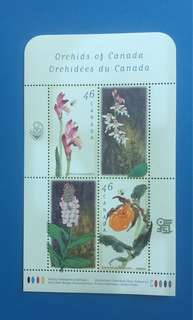 加拿大1999年蘭花小全張