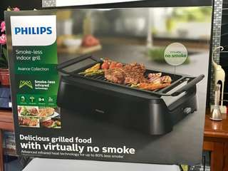 Philips Smokeless Table Grill - Deep Black - 3 Avance Collection