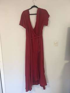 Red wrap dress - size 20