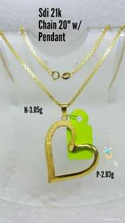 PAWNABLE!!! 21K SD GOLD NECKLACE