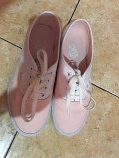 Vans auth pink white