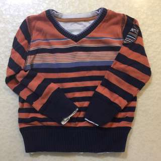Size 24m Set of sweater and fleeced lined bottom