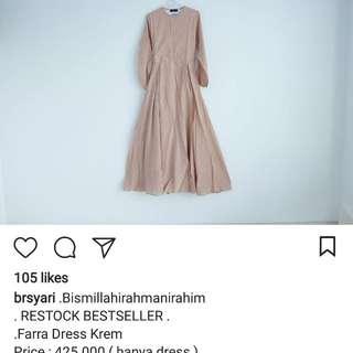 BR Syar'i Dress Polka Warna Mocca