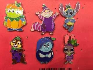迪士尼襟章 game pin Judy/ chip/ stitch /妙妙貓/三眼仔/啊愁