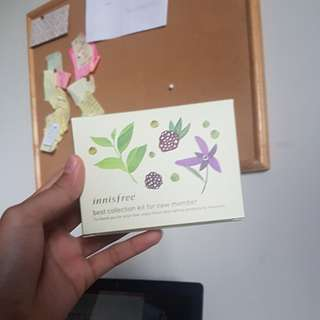 Innisfree best collection kit orchid enriched cream, jeju volcanic clay mask, green tea seed serum