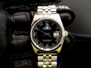 PREOWNED ROLEX Datejust 36, 16234 Rolesor, 36mm, Men-size, K Series @ Year 2002 Mens Watch