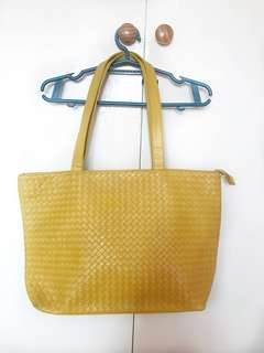 Pre loved Yellow Tote Bag
