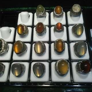 Cincin batu ring perak murni kwalitas batu terbaik star