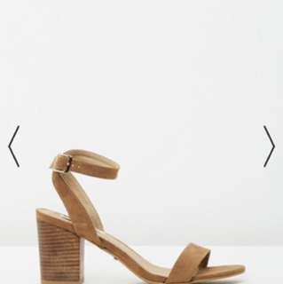 Billini Carlina heels tan suede