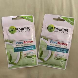 Garnier clay mask matcha
