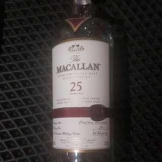 麥卡倫25年空瓶