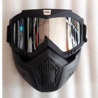 Kacamata Goglemask gogglemask googlemask Gogle Google Goggle Mask Osbe Helm Cakil Bogo Robot Chrome
