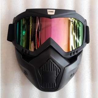 Kacamata Goglemask gogglemask googlemask Gogle Google Goggle Mask Osbe Helm Cakil Bogo Robot Pelangi Rainbow