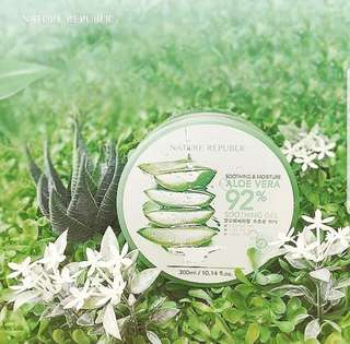 BEST SELLER !!!Nature Republic Aloe Vera 92% soothing gel. Stock only 1