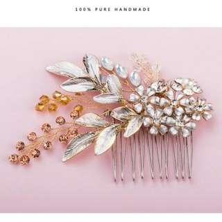Headpiece Hairpiece Sirkam Handmade Perhiasan Aksesoris Rambut Pengantin Bride