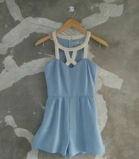 Baby Blue Caged Jumpsuit