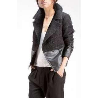 Dylan Alexa Boucle Leather Jacket - Size XS