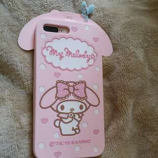 (將軍澳專賣店)My Melody iphone 7plus/ iphone 8plus電話保護套 iphone case