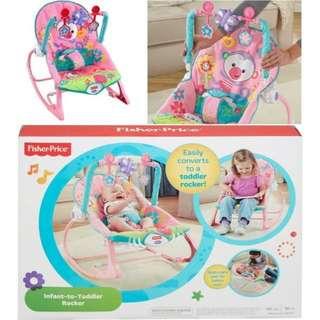 BNIB: Fisher Price Infant-to-Toddler Rocker, Pink - Rocking Chair - Bouncer
