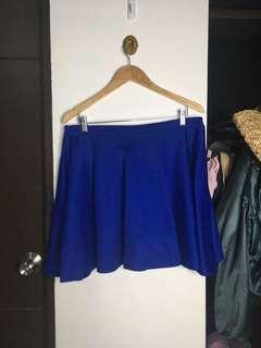 Plus size Royal blue skirt