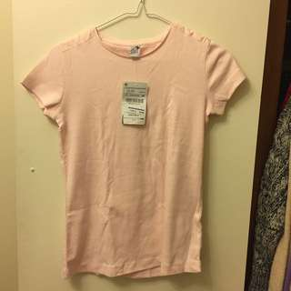 Zara girls plain pink tshirt 11-12 years