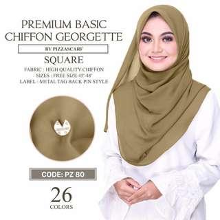 PO Premium Basic Chiffon Square