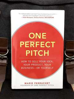 # Highly Recommeded《Bran-New + Hardcover Edition + The Successful Art of Pitch In Selling》ONE PERFECT PITCH: How to Sell Your Idea, Your Product, Your Business--or Yourself