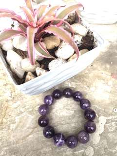 Dark Amethyst 14mm bracelet