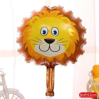 C130 happy birthday foil balloon zoo animal lion
