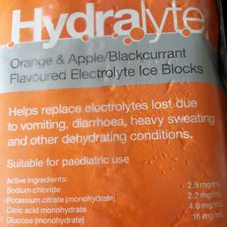 Hydralyte Flavoured Electrolyte Ice Blocks