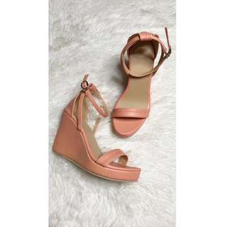 """LILIW MADE 4"""" WEDGE SANDALS (color PEACH)"""
