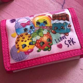 Shopkins 3 fold wallets