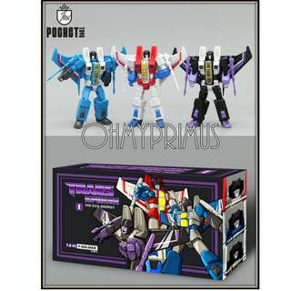 Pocket Toys TS01 F-Soldier - Transformers KO DX9 Seekers (Set Of 3)
