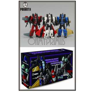 Pocket Toys TS02 J-Soldier - Transformers KO DX9 Coneheads (Set Of 3)