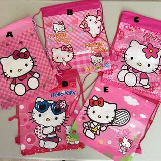 💕Hello Kitty Party supplies - draw string goodie bags / backpack/ party Bags / party favors